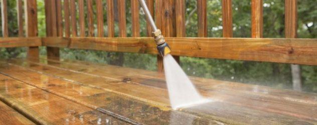 water pressuring the wooden floor