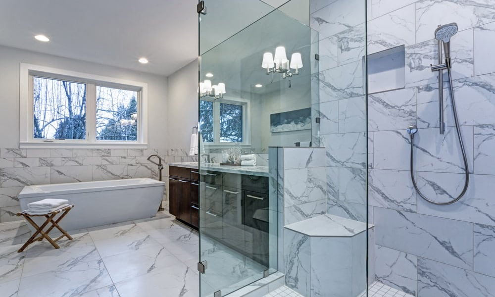 MARBLE AND TRAVERTINE TILE