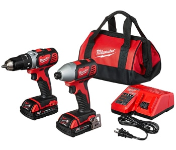 Milwaukee Compact Drill and Impact Driver Combo Kit