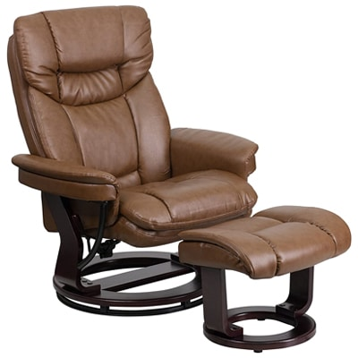 Flash Furniture Multi-Position Recliner and Curved Ottoman