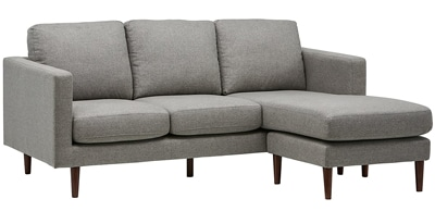 RIVET REVOLVE MODERN UPHOLSTERED SOFA WITH REVERSIBLE SECTIONAL CHAISE