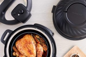 instant pot with roasted chicken