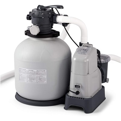 INTEX KRYSTAL CLEAR SAND FILTER PUMP & SALTWATER SYSTEM WITH E.C.O. (ELECTROCATALYTIC OXIDATION)