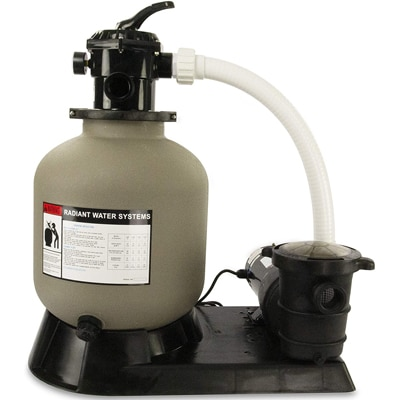 RX CLEAR RADIANT COMPLETE SAND FILTER SYSTEM FOR ABOVE GROUND SWIMMING POOL