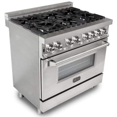 ZLINE 36 in. Professional 4.6 cu. ft. 6 Gas BurnerElectric Oven