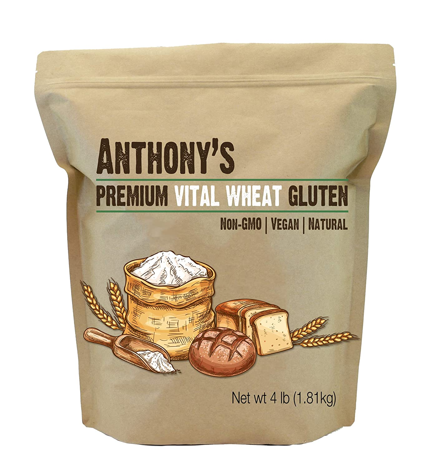 Anthony's Vital Wheat Gluten, 4 lb