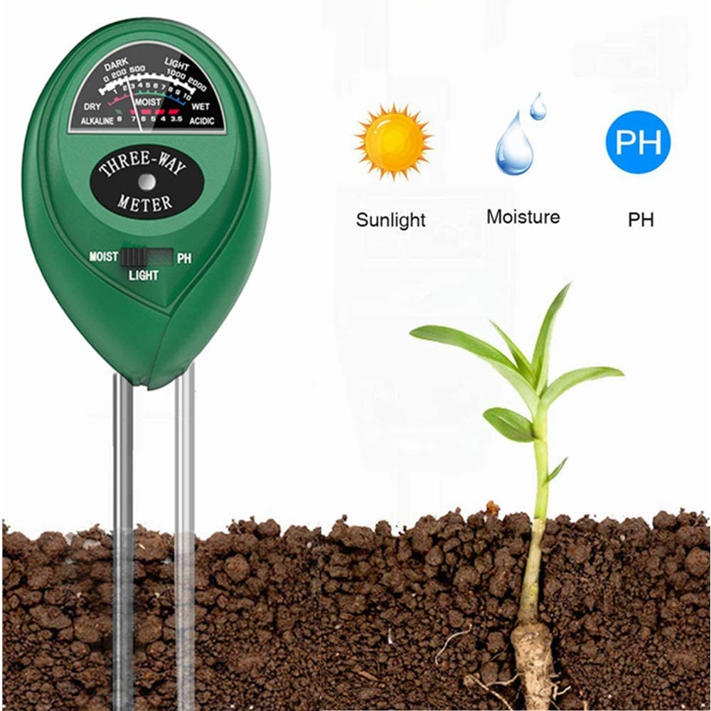Soil PH Meter Soil Moisture Sensor 3-in-1 Soil Moisture Test Kit