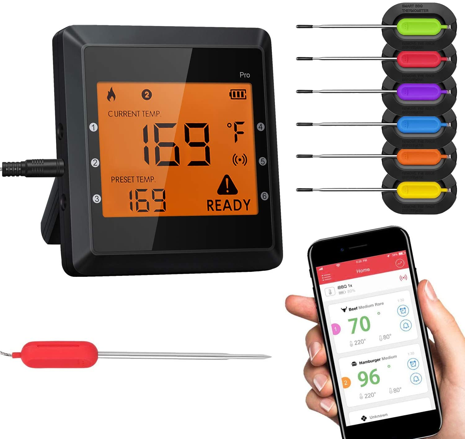 Bluetooth Meat Thermometer For Grilling