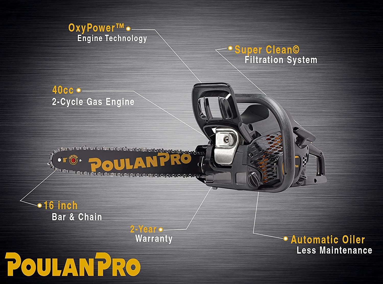 Poulan Pro PR4016, 16in Gas Chainsaw