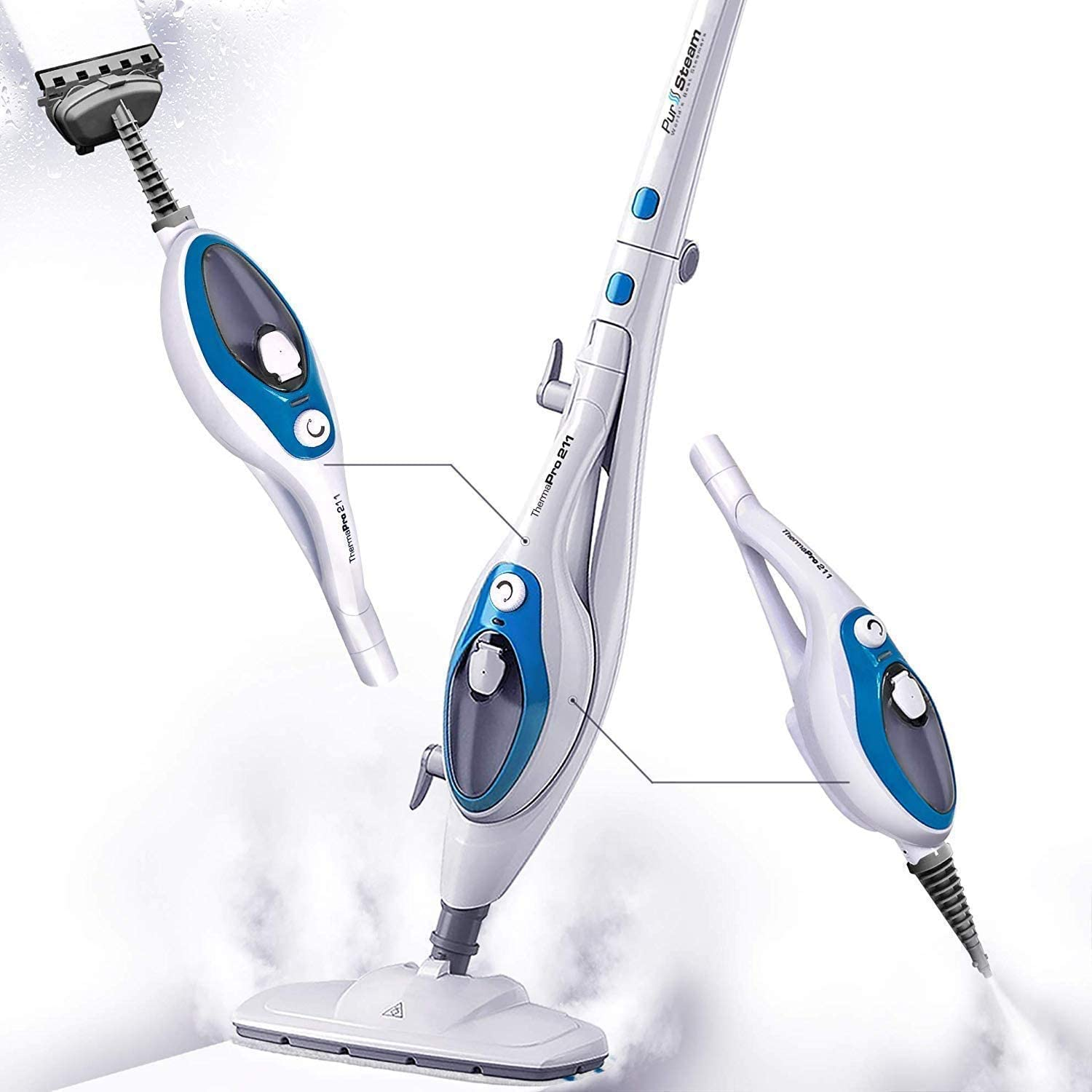 PurSteam Steam Mop Cleaner for Laminate Floors