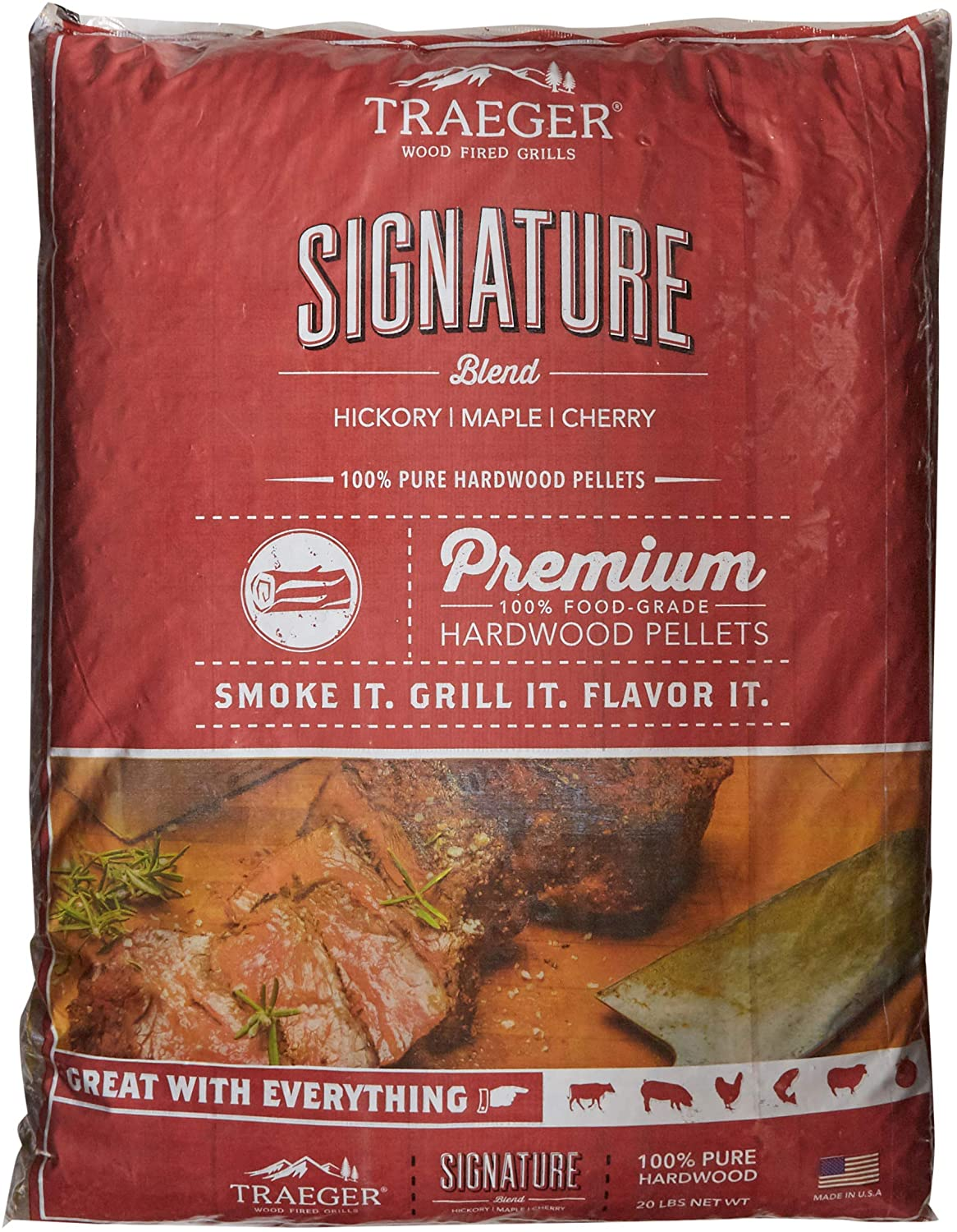 Traeger Grills PEL331 Signature Blend 100% All-Natural Hardwood Pellets