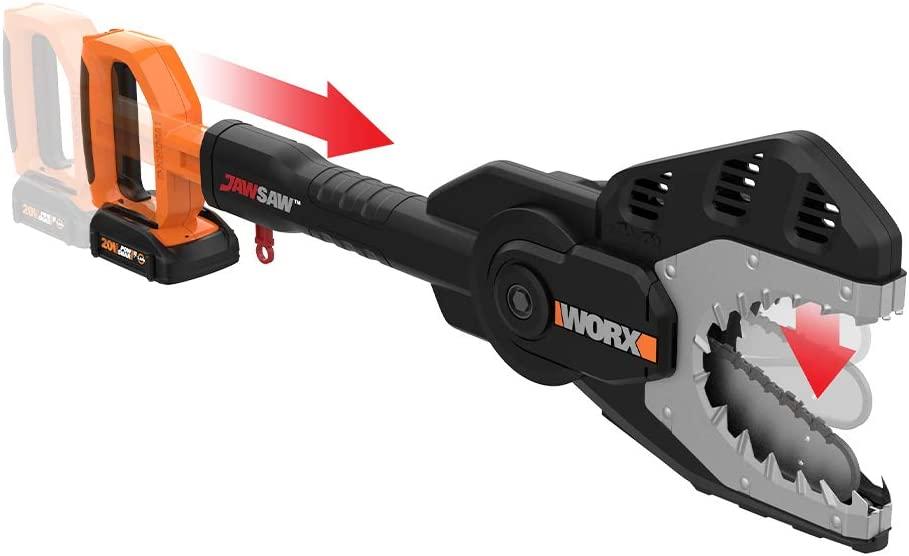 WORX WG320 20V Power Share Cordless 6-inch JawSaw Chainsaw