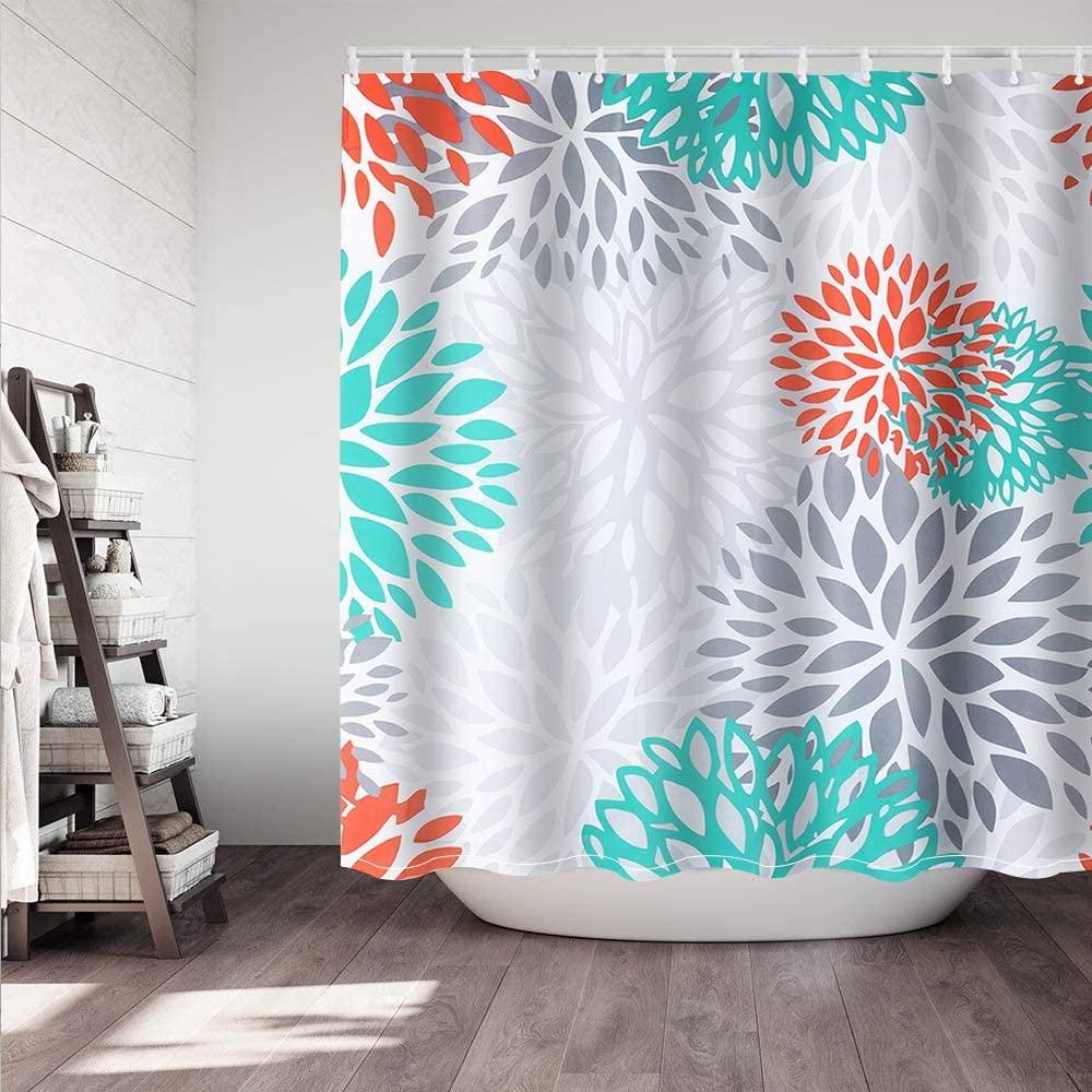 Didihou Waterproof Polyester Fabric Shower Curtain