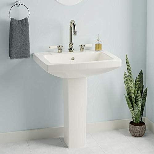 Magnus Home Products Altha Vitreous China Pedestal Bathroom Sink