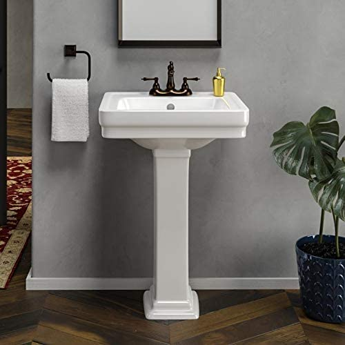 Magnus Home Products Tifton 100 Vitreous China Pedestal Bathroom Sink
