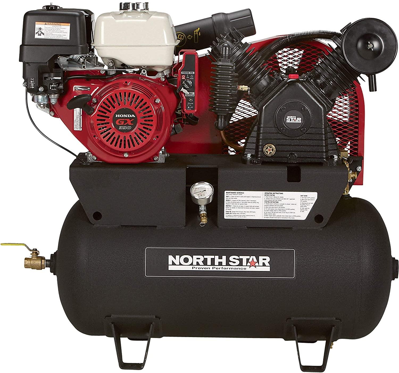 NorthStar Portable Gas Powered Air Compressor 30-Gallon Horizontal Tank