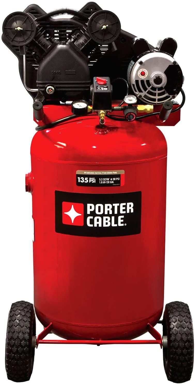 Porter Cable PXCMLC1683066 30-Gallon Single Stage Portable Air Compressor