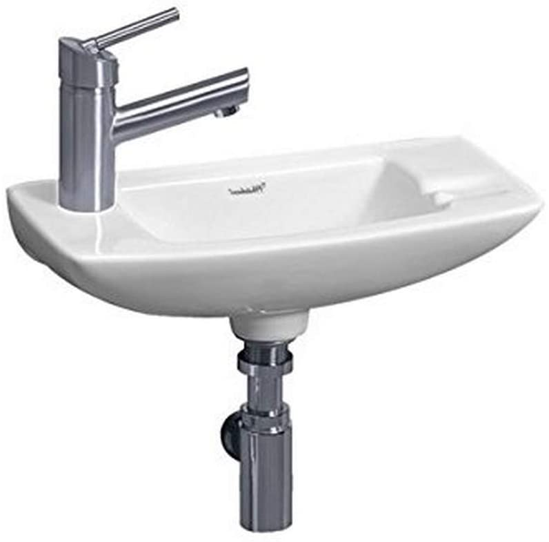 Whitehaus WH1-103L-WH Isabell Wall-Mount Lavatory Basin