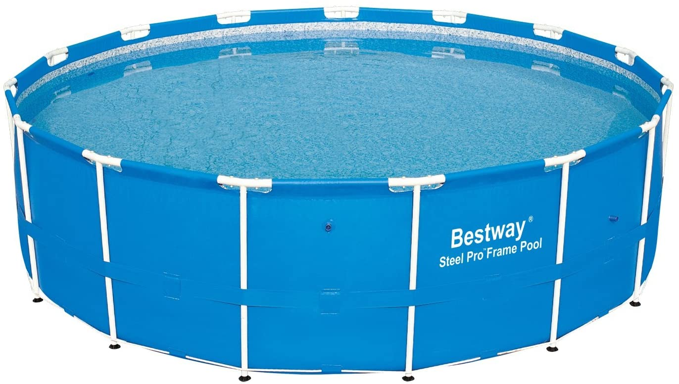 Bestway 12752E Steel Pro Above Ground 15ft x 48in Backyard Frame Pool Set