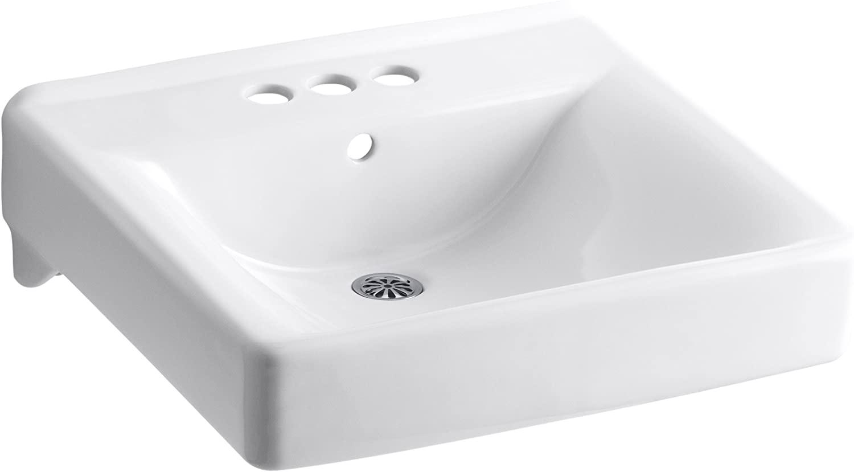 KOHLER K-2054-0 Soho Wall-Mount Bathroom Sink