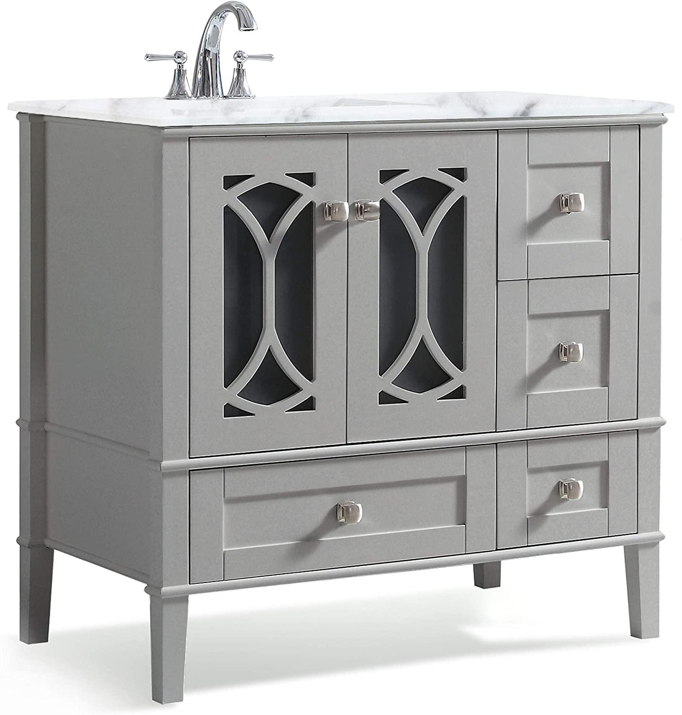 Simpli Home Paige Contemporary Bathroom Vanity