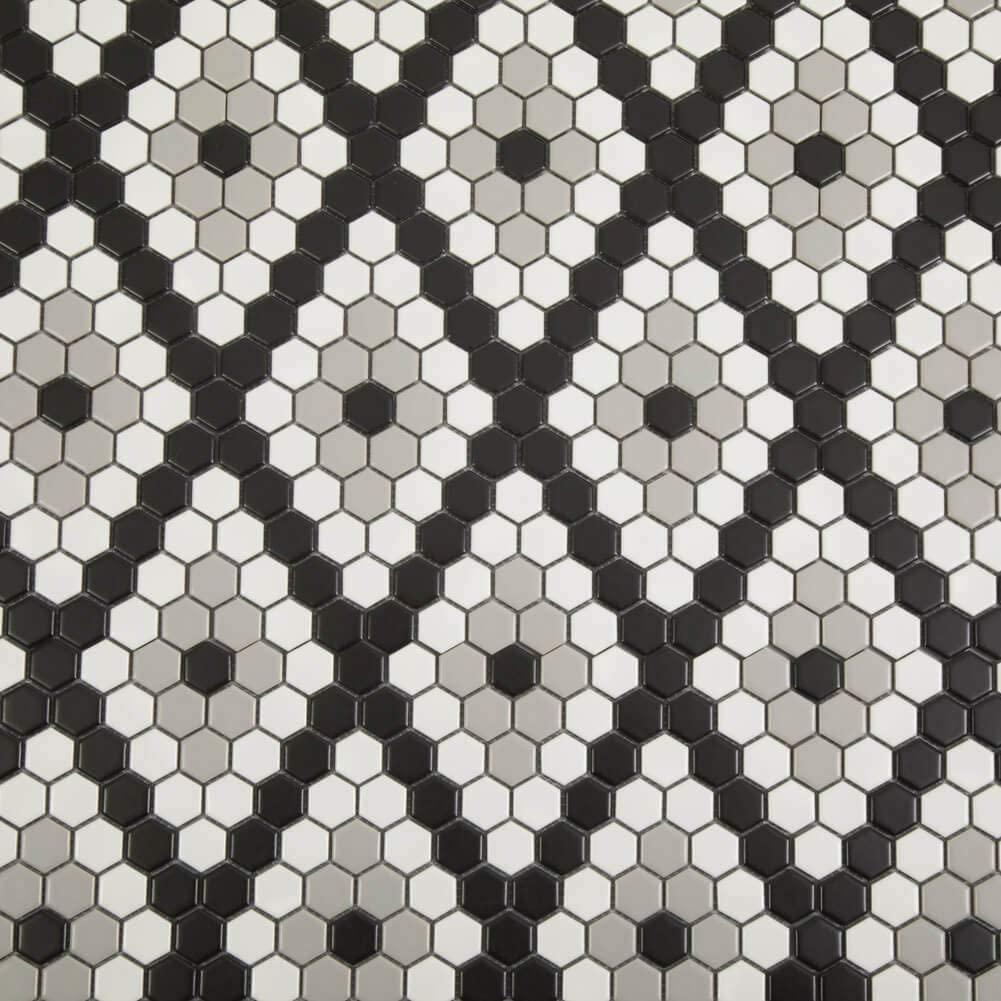 Soulscrafts Porcelain Ceramic Mosaic Tile for Kitchen Backsplash Bathroom Floor & Wall Tile