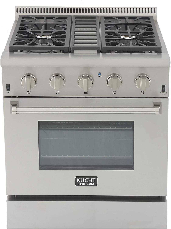 KUCHT KRG3080U-S 30 Inch Natural Gas Range