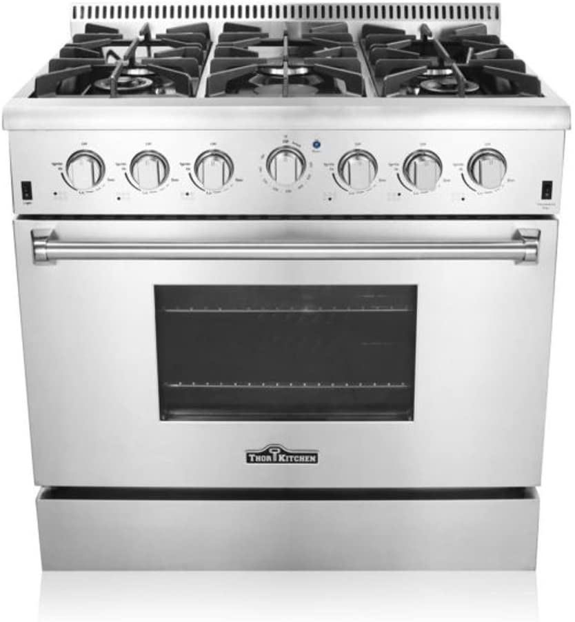 Thor Kitchen HRG3618U 36 in. Freestanding Professional Style Gas Range