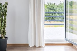 photo of an open window
