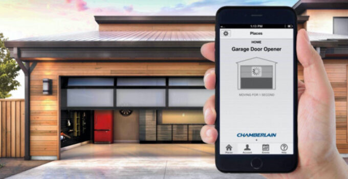 Photo of garage closing using cellphone