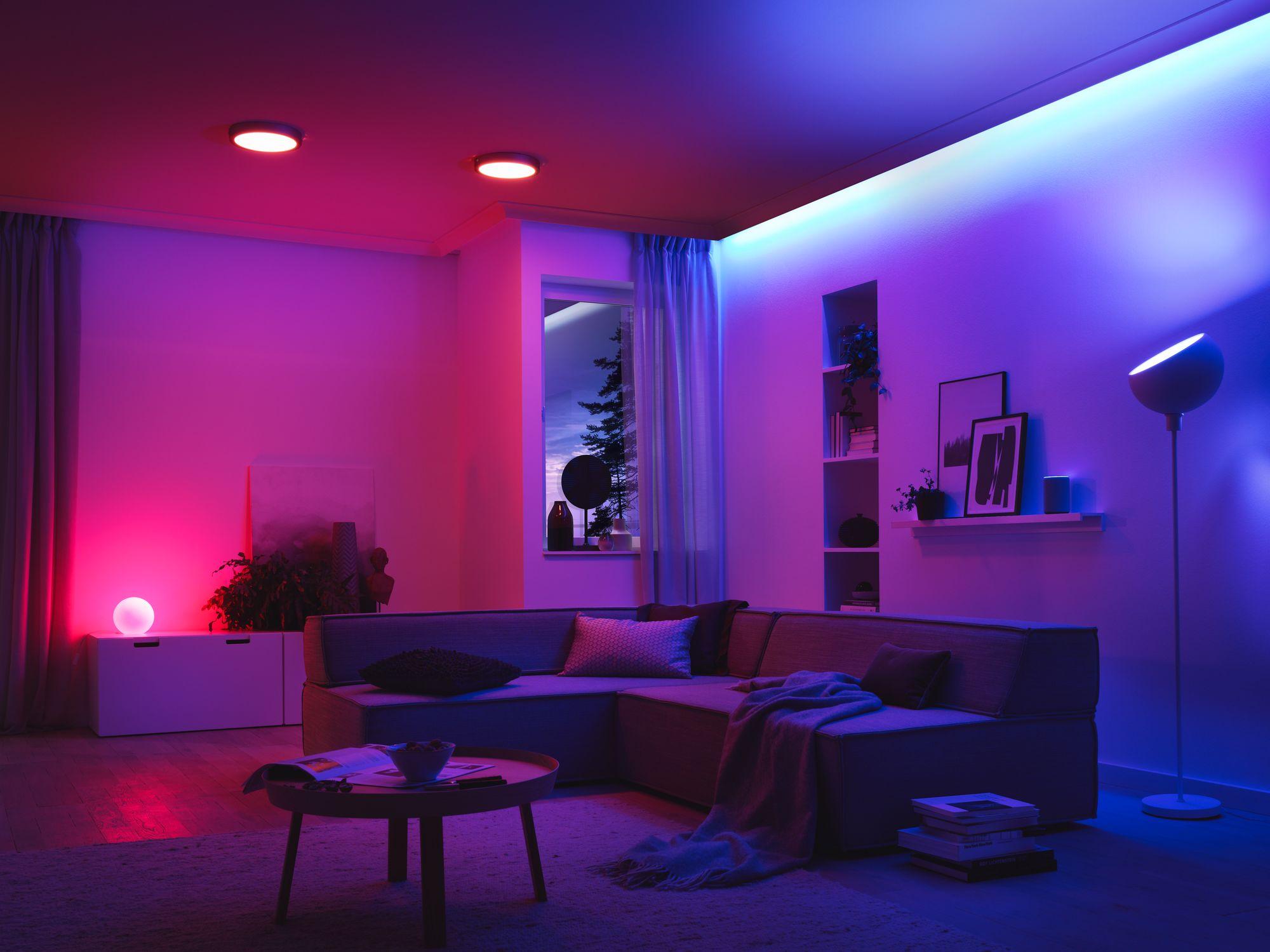 Photo of room using smart bulb