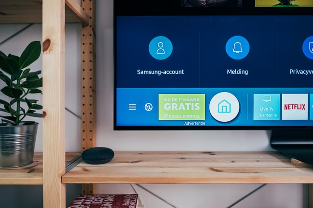 Smart TV screen in the living room