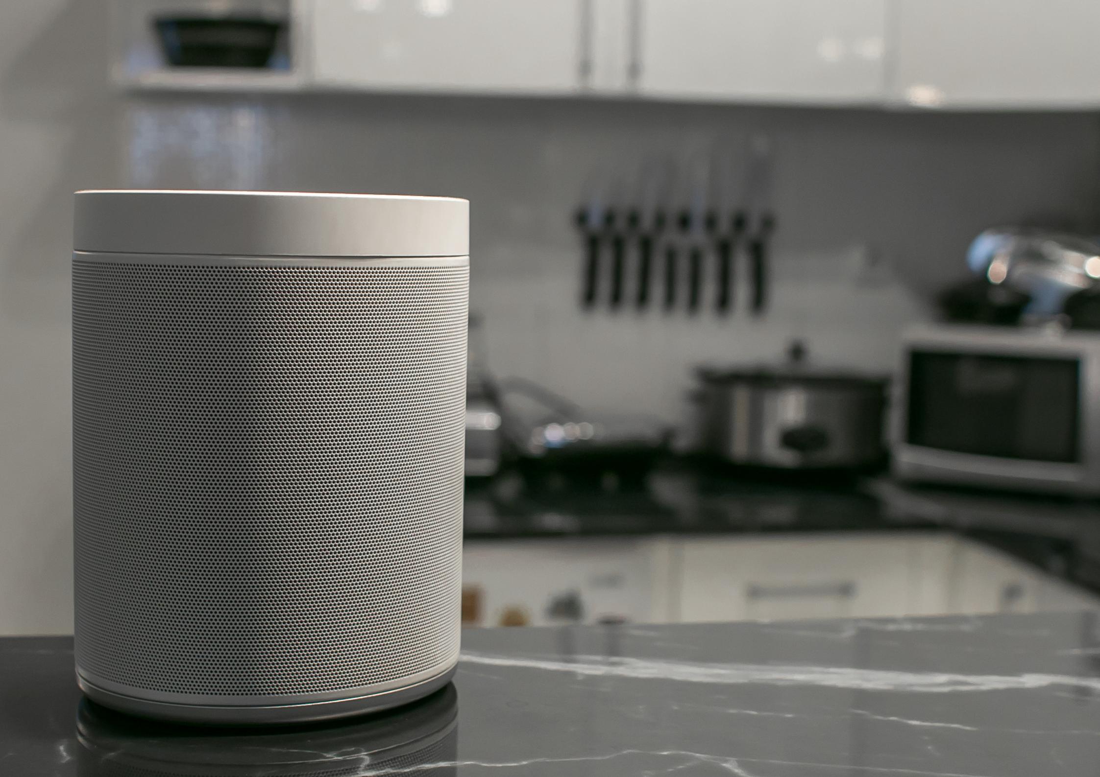 smart speaker over the table inside the house