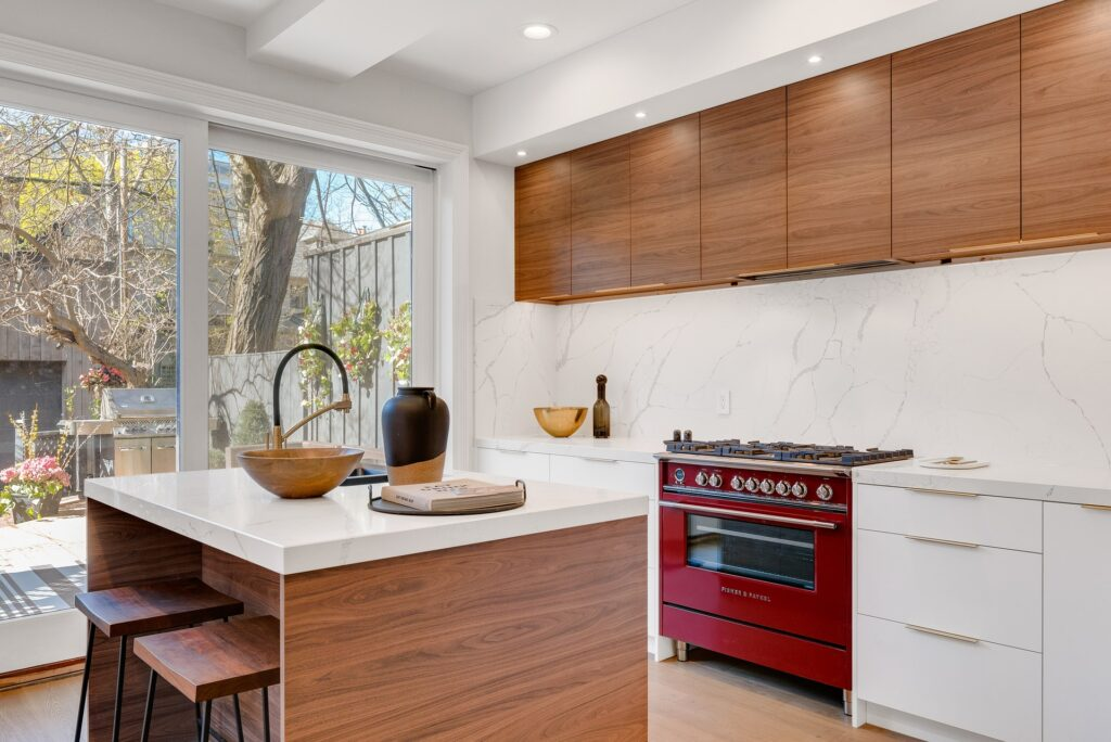 Smart gas stove in a modern kitchen