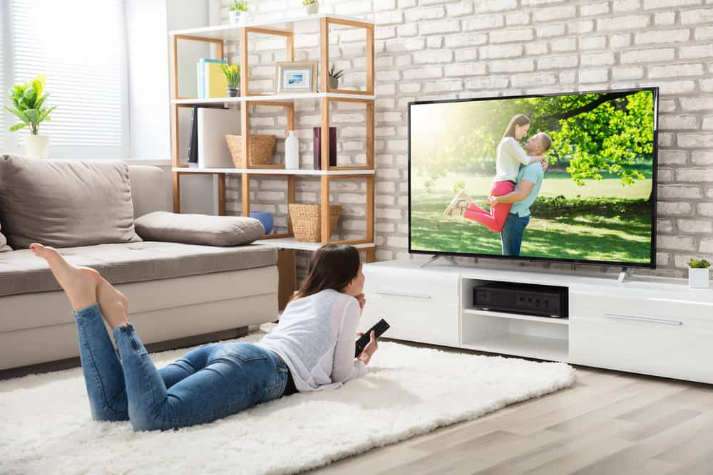 Women watching in smart tv