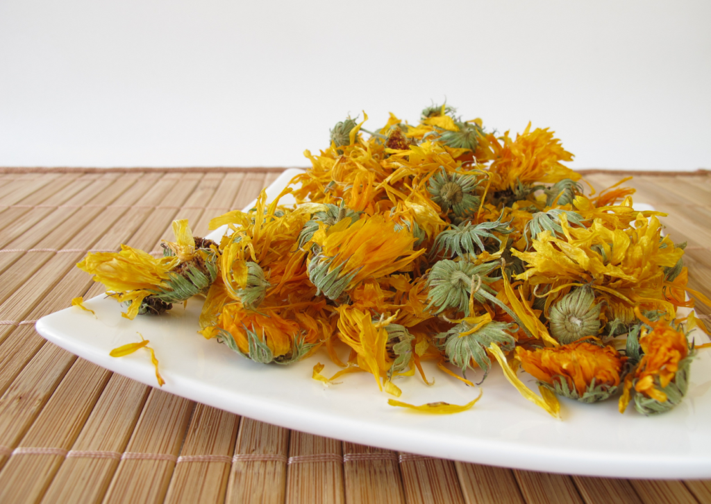 dried flower of marigolds