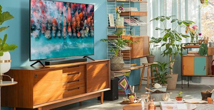 Photo of room have a 55 inch smart tv
