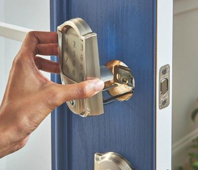installing the schlage deadbolt lock