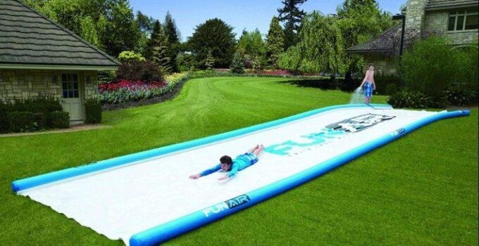 Photo of backyard water slides