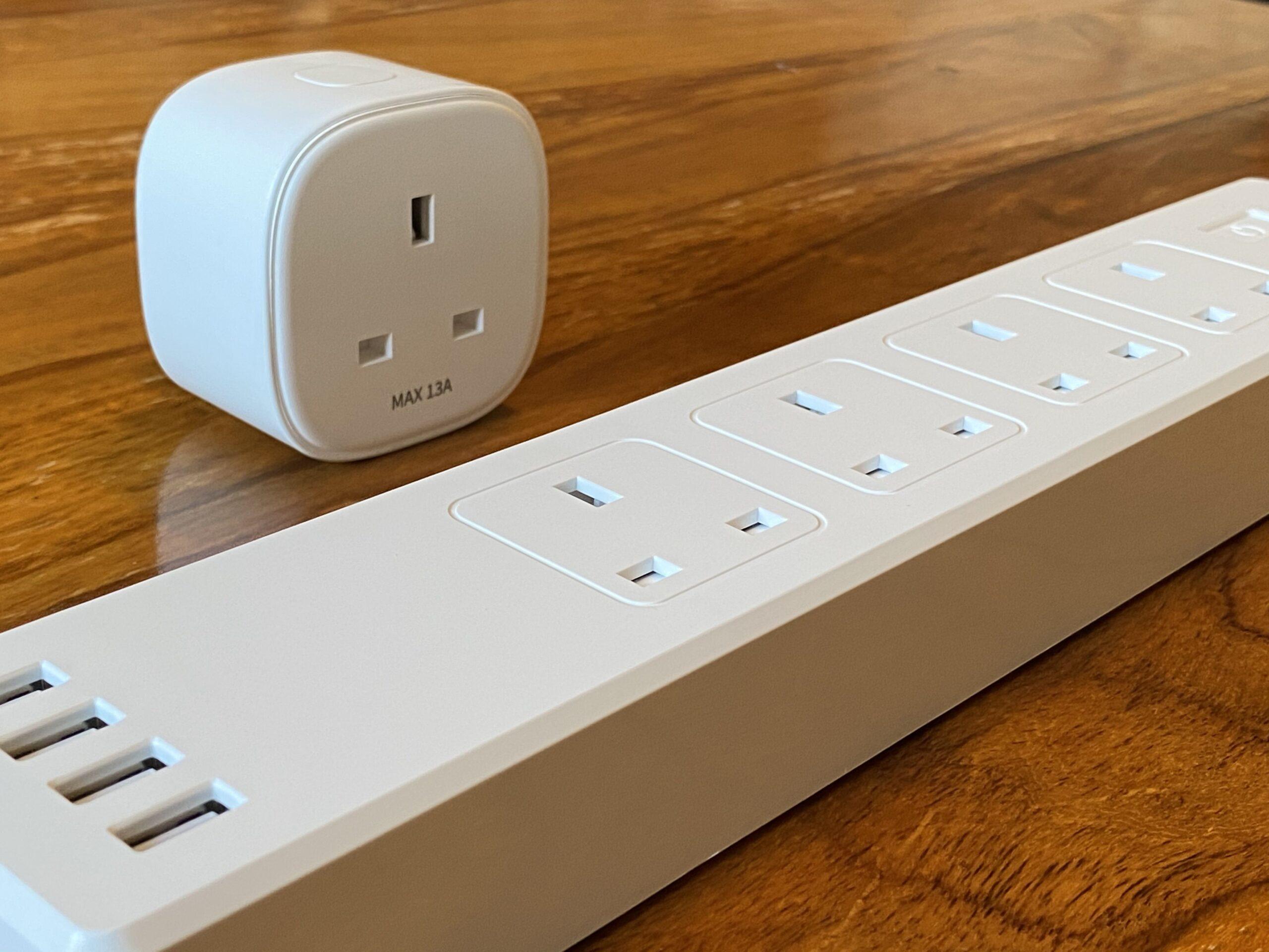 Photo of power strip and smart plug