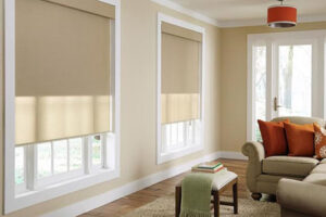 Photo of room with smart windows blinds