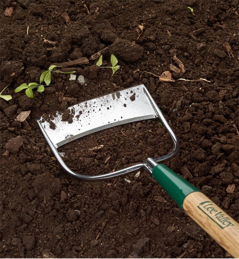 Photo of garden hoe sweeping