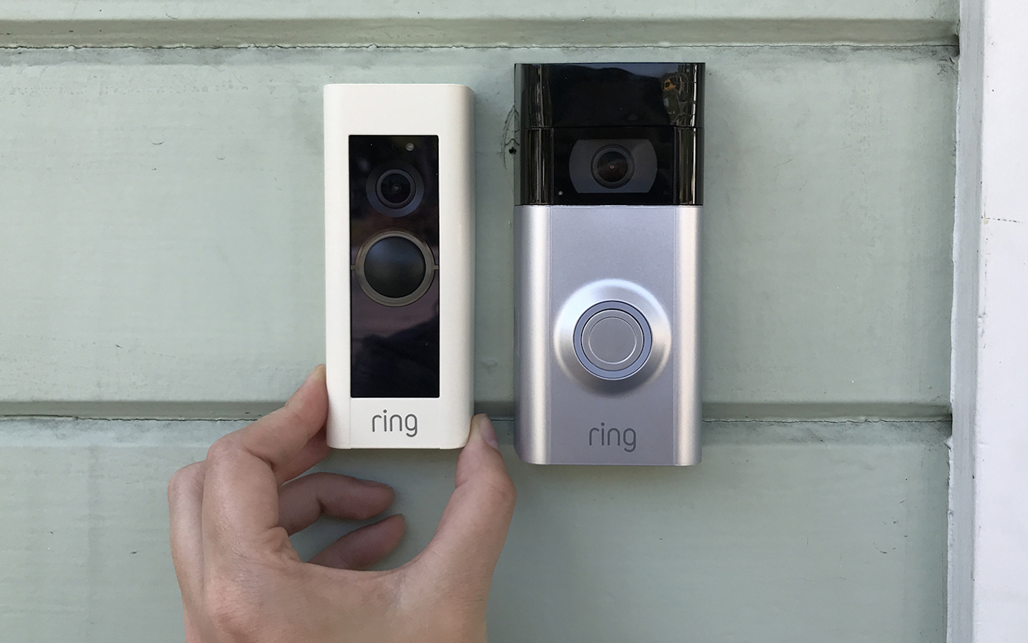 Photo of 2 different ring video doorbell