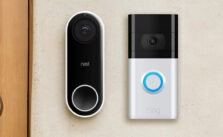 Photo of nest and ring outdoor camera