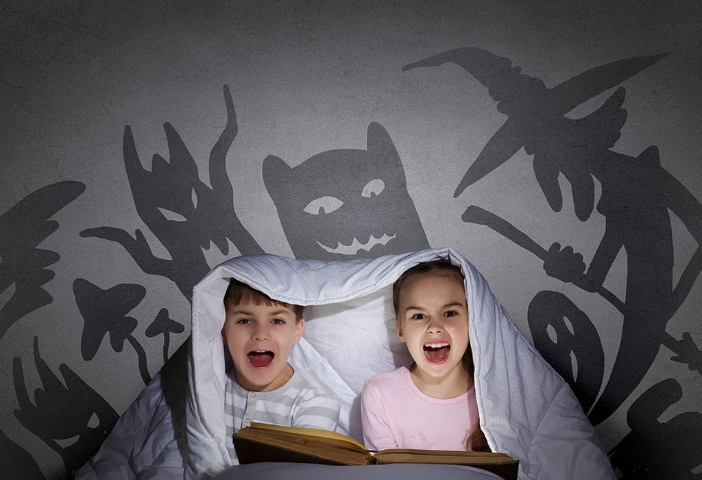 Kids Reading horror story