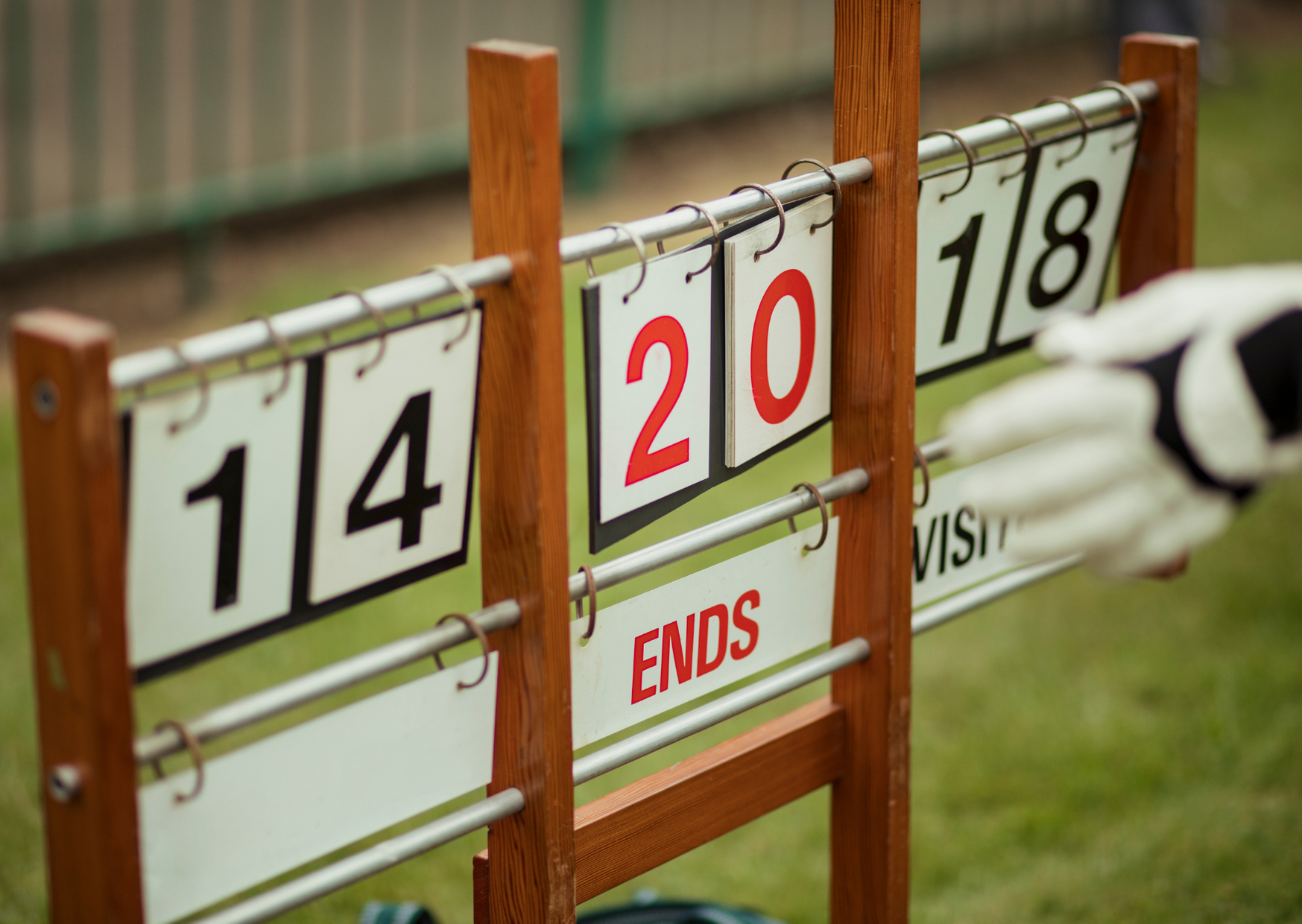 a lawn bowl score board in Types of Lawn Bowls Games