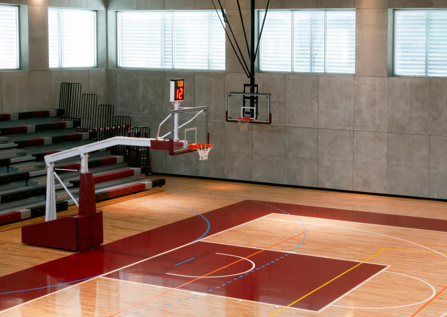 a basketball court of Backyard Sport Court Sizes