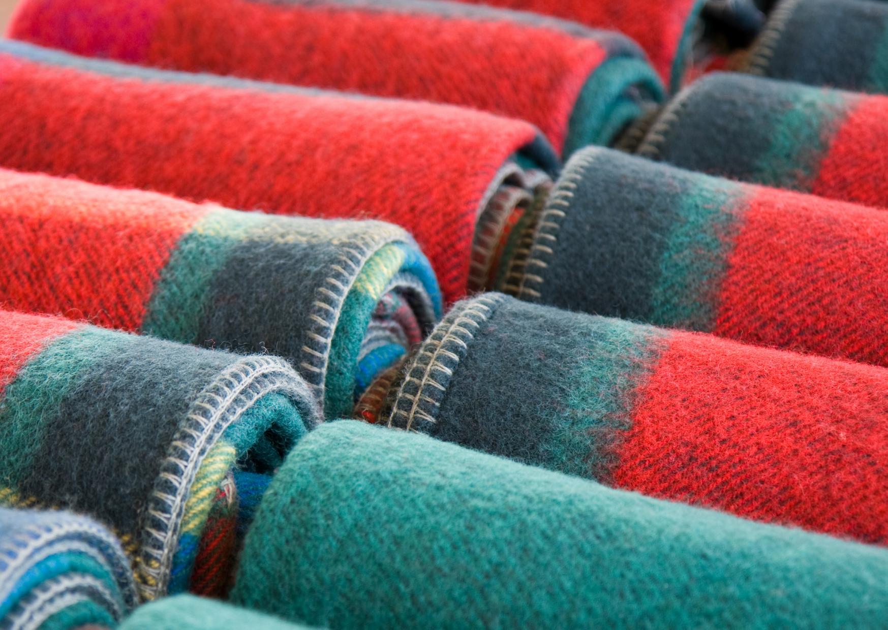 colorful wool blanket