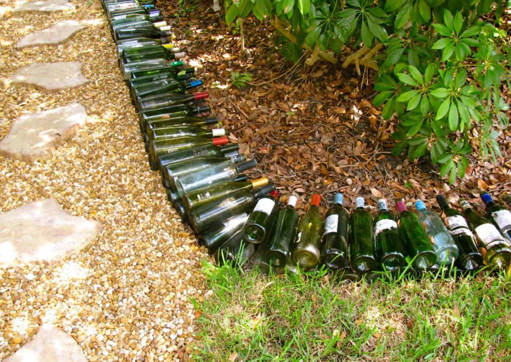Photo of Glass bottle edging