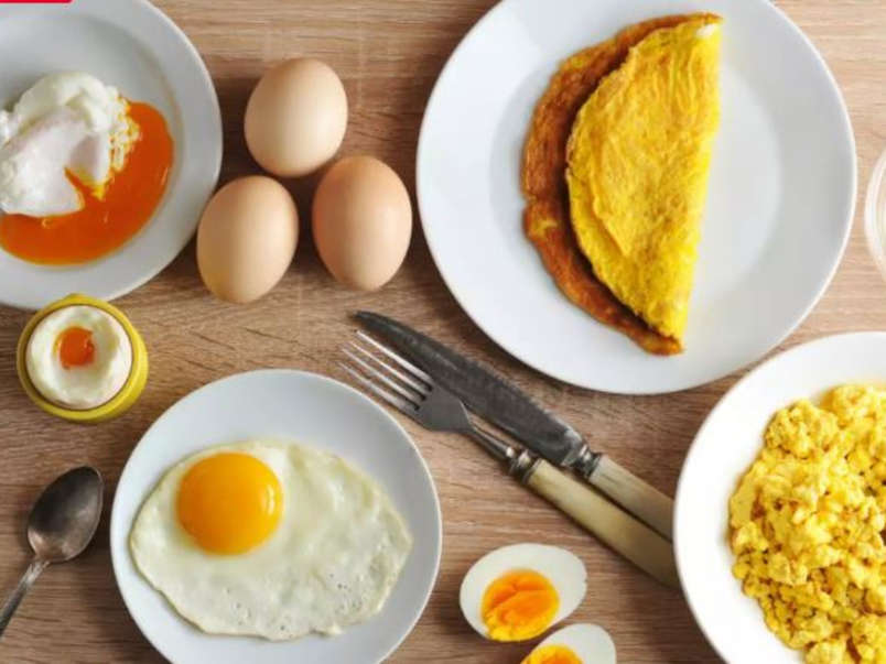 Different cooked eggs of Best Things to Cook on an Outdoor Griddle